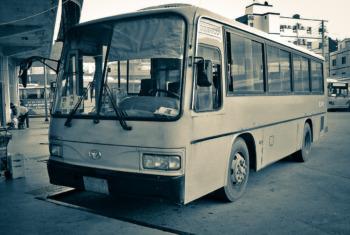 韓国の古いバス キリスト教福音宣教会